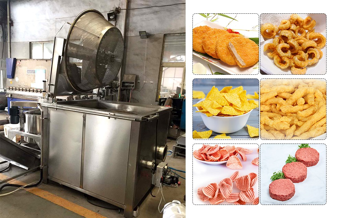 deep batch fryer machine