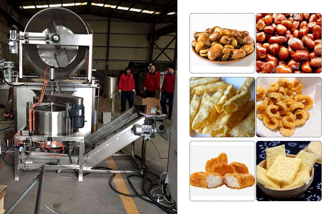 batch fryer machine