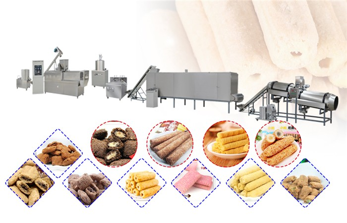 corn puffing extruder machine
