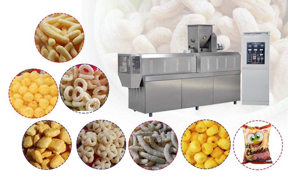 automatic snack puffing making machine