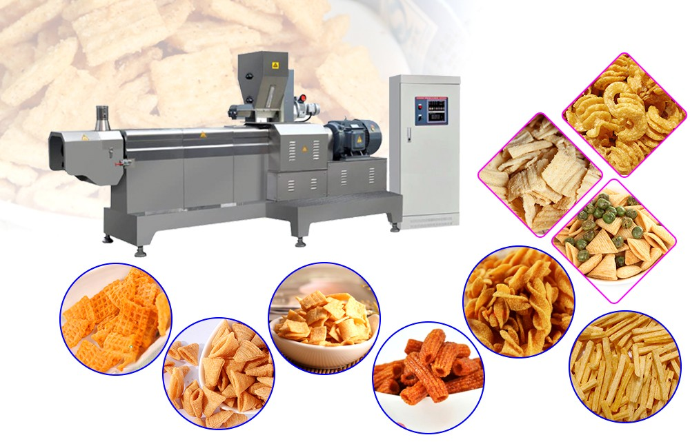 full automatic extruded fried food production line