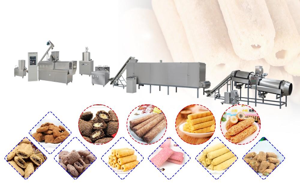 automatic core filling snack making machine