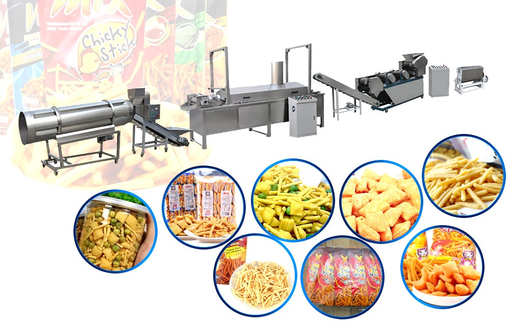 automatic fried dough snackproduction line