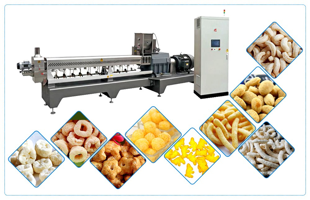 corn puff extruder machine design