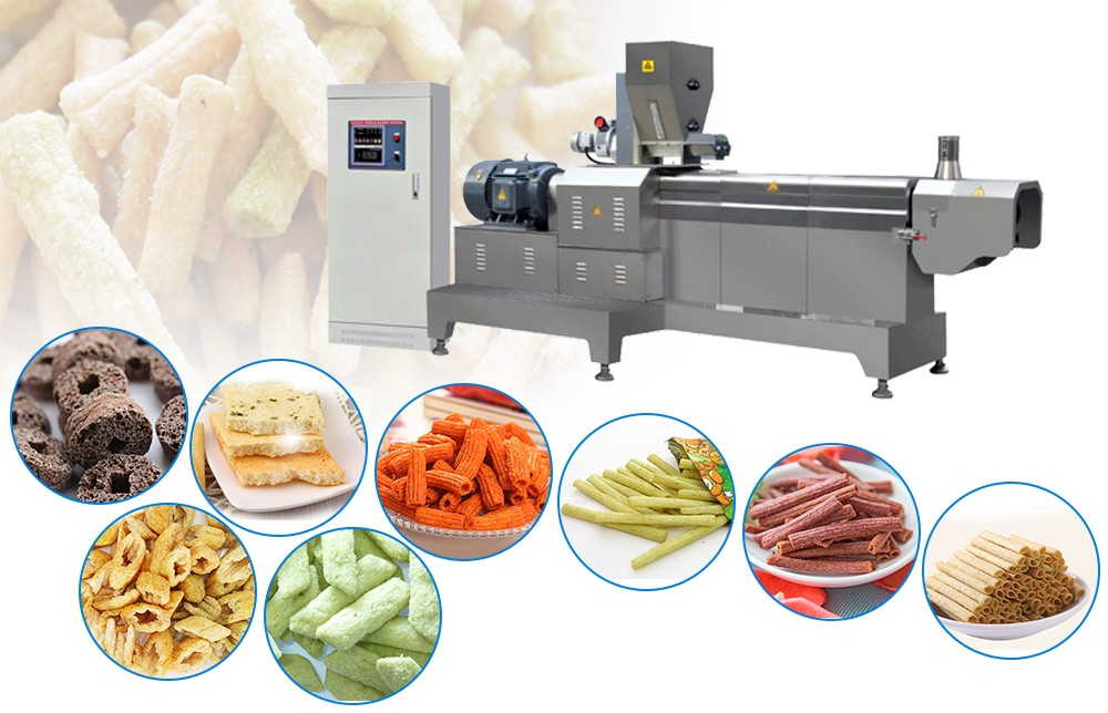 corn puff making machine manufacturing process