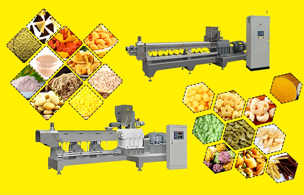 twin screw food extrusion machine for snack food