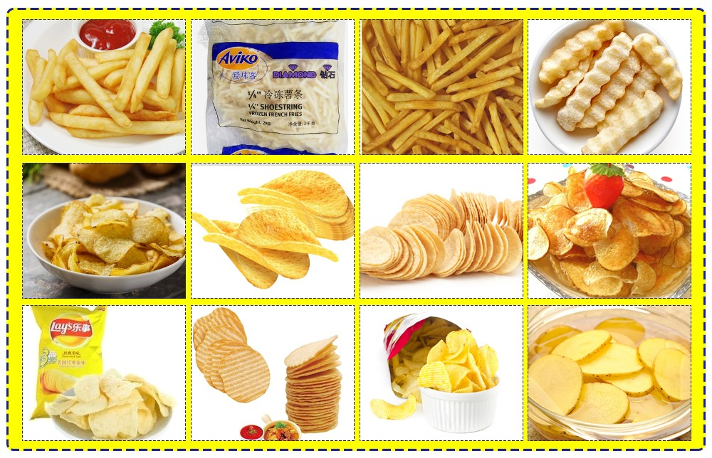 Potato Chips Making Machine Raw Material & Products Quality Target