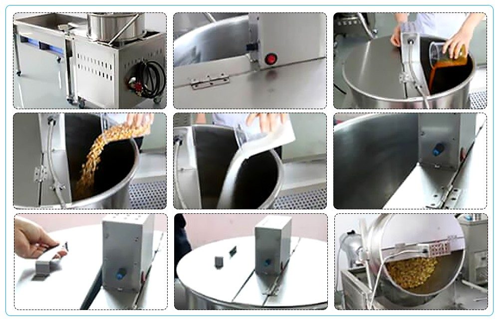 Supplier for pop corn making machine for sale
