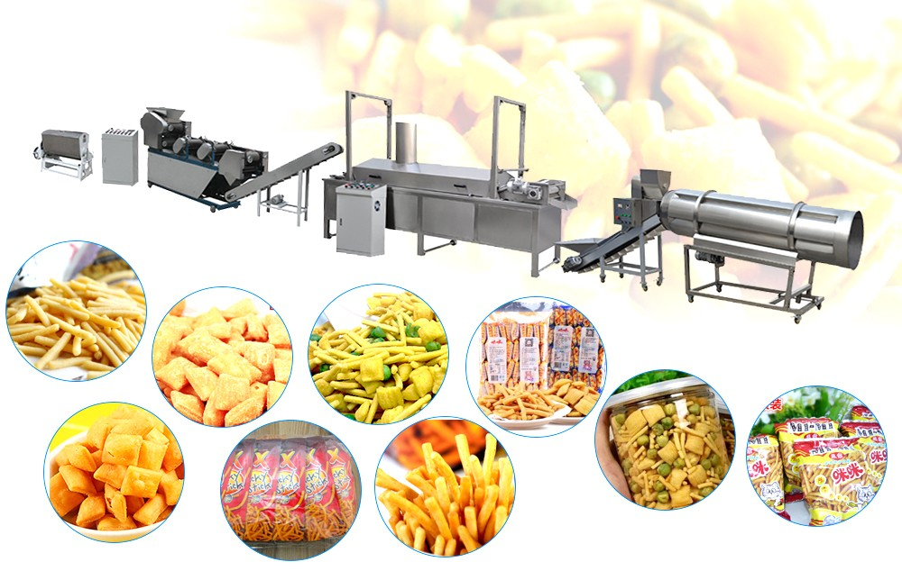 working process for Fried Dough Snack process line