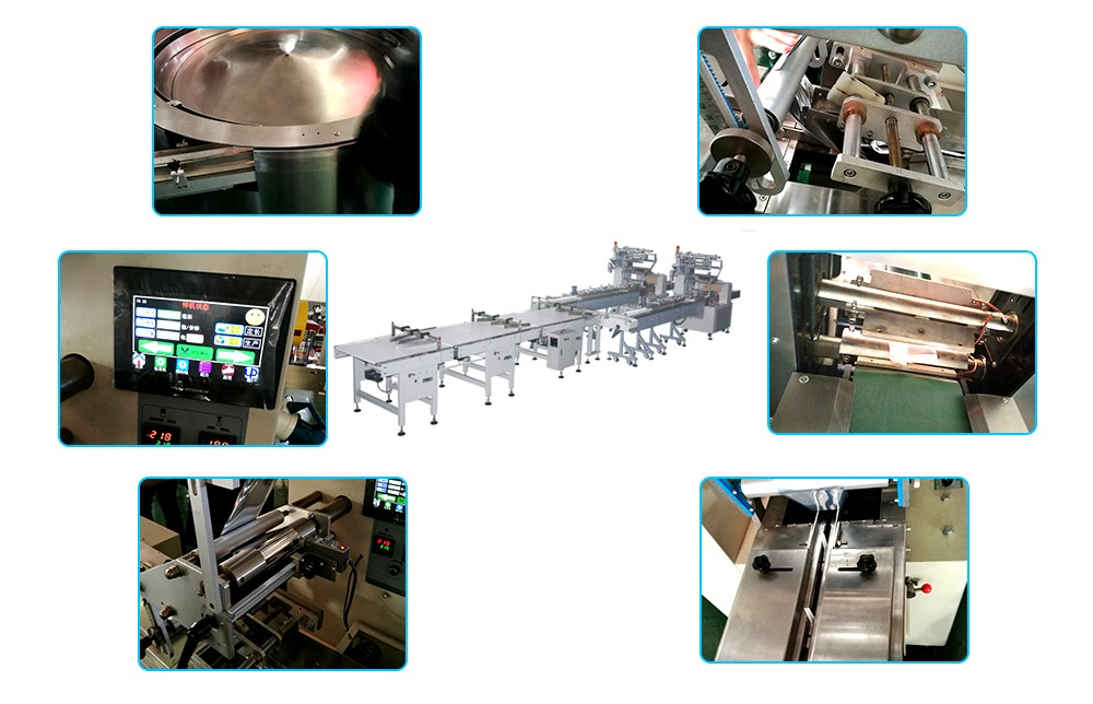 pillow packaging machine procession line