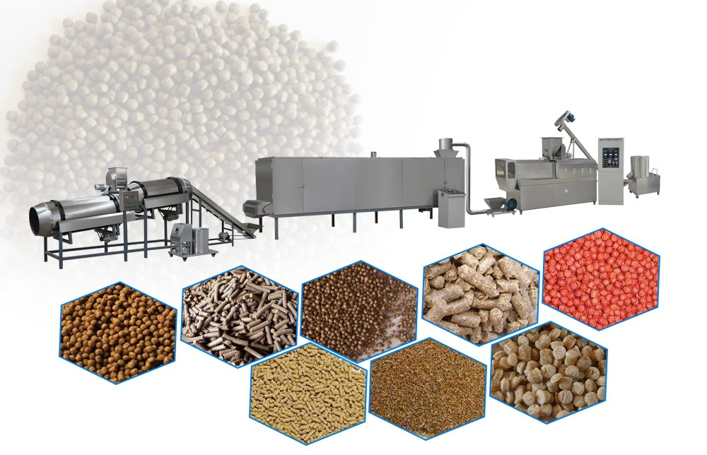 floating fish feed making machine design