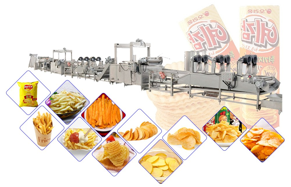 Fresh Potato Chips Making Machine Working Process