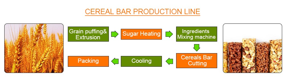 process for Protein Bar Production Line